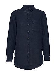 Isa Linen Shirt - BLUE
