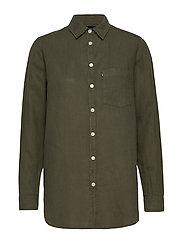 Isa Linen Shirt - GREEN