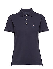 Jess Pique Polo Shirt - DARK BLUE