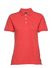 Jess Pique Polo Shirt - RED