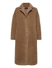 Judith Wool Blend Coat - BROWN