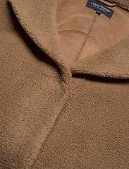 Lexington Clothing - Judith Wool Blend Coat - faux fur - brown - 2