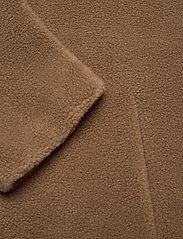 Lexington Clothing - Judith Wool Blend Coat - faux fur - brown - 3