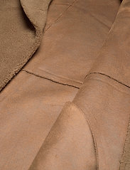 Lexington Clothing - Judith Wool Blend Coat - faux fur - brown - 4