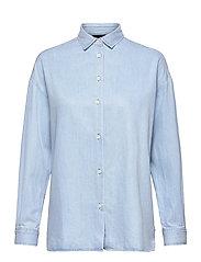 Edith Denim Tencel Shirt - LT BLUE DENIM