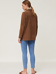 Lexington Clothing - Kathy Suede Worker Shirt - overshirts - brown - 5