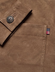 Lexington Clothing - Kathy Suede Worker Shirt - overshirts - brown - 4