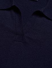 Lexington Clothing - Amilia Cotton/Silk Blend Short Sleeve Knitted Polo - polohemden - dark blue - 3