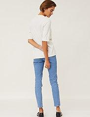 Lexington Clothing - Amilia Cotton/Silk Blend Short Sleeve Knitted Polo - polohemden - offwhite - 3