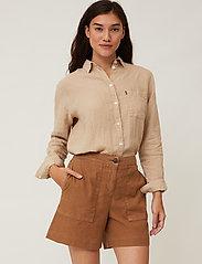 Lexington Clothing - Juliana Linen Blend Shorts - chino shorts - brown - 4