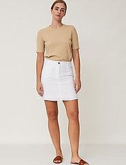 Lexington Clothing - Stella Linen Skirt - korta kjolar - offwhite - 0