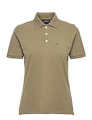 Jess Pique Polo Shirt - GREEN