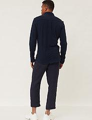 Lexington Clothing - Brett Organic Cotton Pique Shirt - geruite overhemden - dark blue - 3