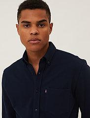 Lexington Clothing - Brett Organic Cotton Pique Shirt - geruite overhemden - dark blue - 4