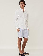 Lexington Clothing - Brett Organic Cotton Pique Shirt - chemises à carreaux - white - 0