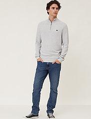 Lexington Clothing - Clay Organic Cotton Half Zip Sweater - half zip - light grey melange - 0