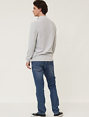 Lexington Clothing - Clay Organic Cotton Half Zip Sweater - half zip - light grey melange - 3