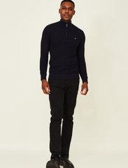 Lexington Clothing - Clay Organic Cotton Half Zip Sweater - truien met halve rits - dark blue - 0