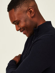 Lexington Clothing - Clay Organic Cotton Half Zip Sweater - truien met halve rits - dark blue - 4