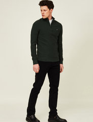 Lexington Clothing - Clay Organic Cotton Half Zip Sweater - truien met halve rits - green melange - 0