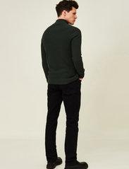 Lexington Clothing - Clay Organic Cotton Half Zip Sweater - truien met halve rits - green melange - 3