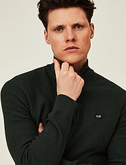 Lexington Clothing - Clay Organic Cotton Half Zip Sweater - truien met halve rits - green melange - 4