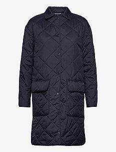 Darlene Quilted Jacket - padded coats - dark blue