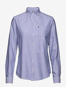 Sarah Oxford Shirt - BLUE/WHITE STRIPE