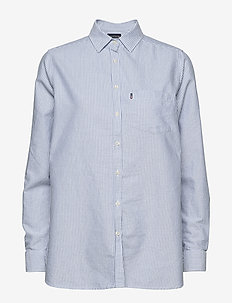 Isa Oxford Shirt - long-sleeved shirts - blue/white stripe
