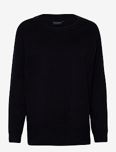 Lizzie Cotton/Cashmere Sweater - jumpers - dark blue