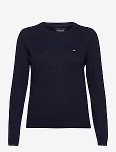 Marline Organic Cotton Sweater - neulepuserot - dark blue