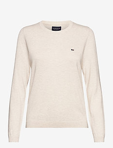 Marline Organic Cotton Sweater - neulepuserot - offwhite melange