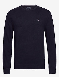 Bradley Crew Neck Sweater - basic knitwear - dark blue