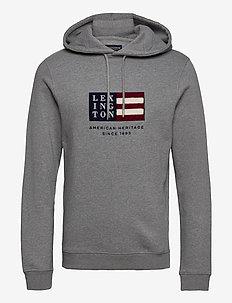 Perry Hood - hoodies - gray melange