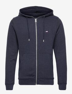 Sebastian Organic Cotton Hood - sweats à capuche - dark blue