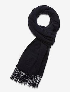 Massachussets Recycled Wool Blend Scarf - sjalar & halsdukar - dark blue