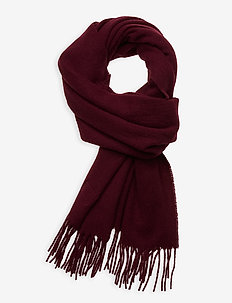 Massachussets Recycled Wool Blend Scarf - huivit - dark red