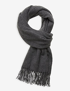 Massachussets Recycled Wool Blend Scarf - huivit - gray melange