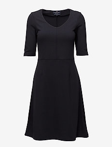 Scarlett Jersey Dress - Deep Marine Blue