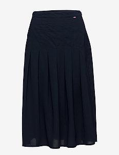 Amanda Plisse Skirt - Deepest Blue