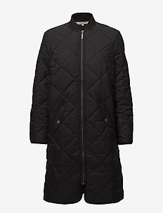 Livia Quilted Coat - CAVIAR BLACK