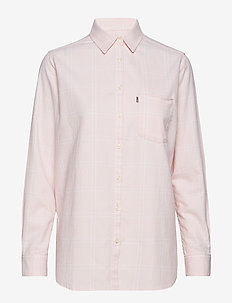 Isa Flannel Shirt - PINK/WHITE CHECK