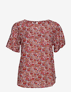 Ellis Red Flower Top - RED FLOWER PRINT