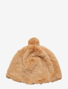 Colette Faux Fur Beanie - mutsen - camel