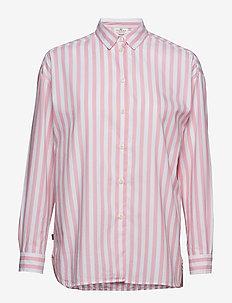 Edith Lt Oxford Shirt - PINK/WHITE STRIPE
