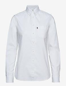 Sarah Oxford Shirt - BRIGHT WHITE