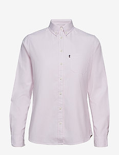 Sarah Oxford Shirt - PINK/WHITE STRIPE