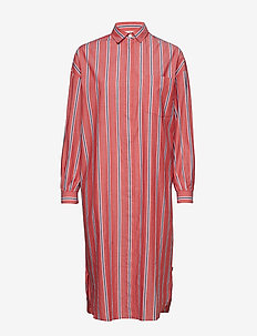 Marlowe Cotton Voile Dress - PINK MULTI STRIPE