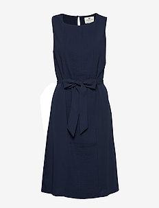 Katie Plisse Dress - NAVY BLUE