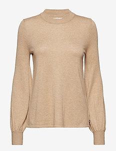 Sadie Cotton Bamboo Sweater - WARM SAND